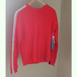 Court and Rowe Stripe Sleeve Sweater Sporty Crew